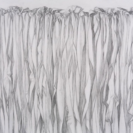 Unfolding #9 - graphite on paper, 38 in x 50 in