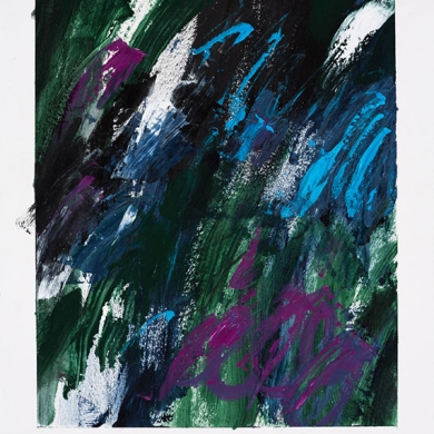 #8 - acrylic, 11 1/2 in x 15 in