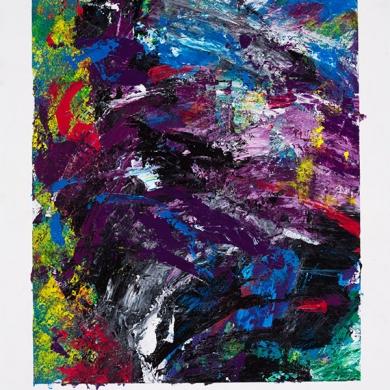 #9 - acrylic, 11 1/2 in x 15 in