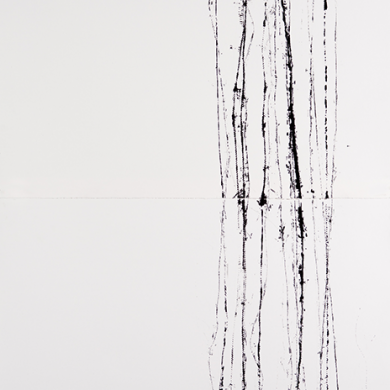 Line studies #10, ink on paper, 31 ½ in x 77 in