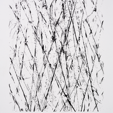 Line studies, #2, ink on paper, 11 ½ in x 15 in
