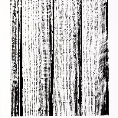 Line studies series II, #2 ink on paper, 11.5 in x 15 in