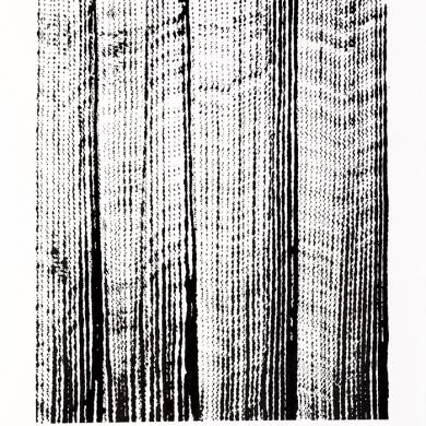 Line studies series II, #4 ink on paper, 11.5 in x 15 in